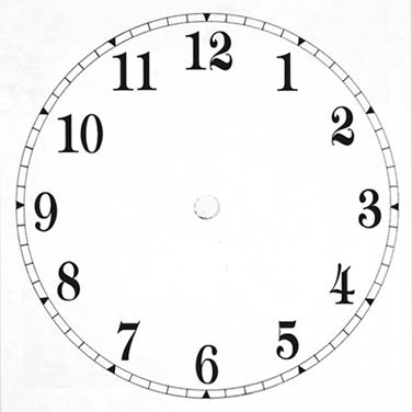 ... demand here s a blank clock face this will enable you to print a blank