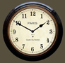Fusee French Station Clock - Black Case with Arabic Dial