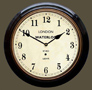 Waterloo Railway Station Clock -  Black Case with Arabic Dial