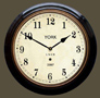 Reproduction Railway Clocks York Station - Black Case with Arabic Face