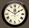 Black Case Roman Dial Wall Clock