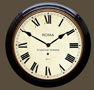 Black Wooden Cased Clock with Roman Dial