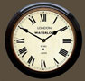 Waterloo Railway Station Clock -  Black Case with Roman Dial