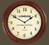 Rail Clock - Victoria Arabic Dial with Wooden Case