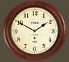 Reproduction Railway Clocks York Station - Wooden Case with Arabic Face