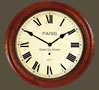 Fusee French Station Clock - Wooden Case with Roman Dial