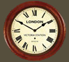 Rail Clock - Victoria Roman Dial with Wooden Case