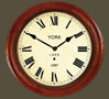Reproduction Railway Clocks York Station - Wooden Case with Roman Face