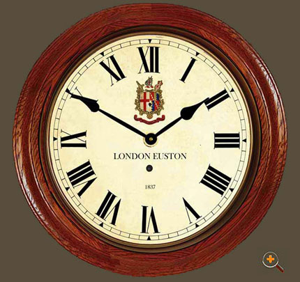 Euston Station Wall Clocks - Wood with Roman Dial 21 Inches