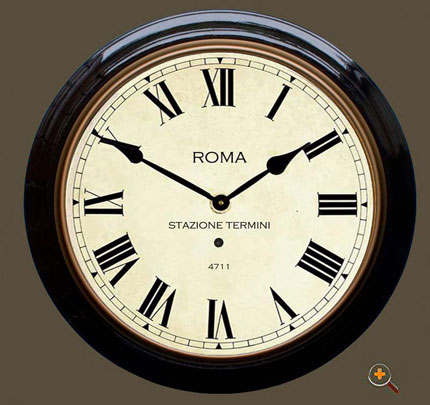 Large Roma Station Clock