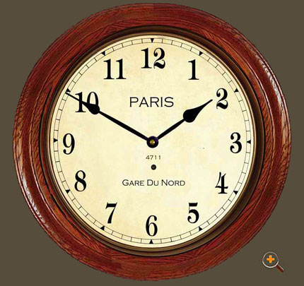 French Railway Clock